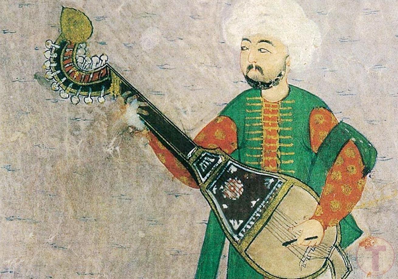 Kopuz Çalan Bir Müzisyen