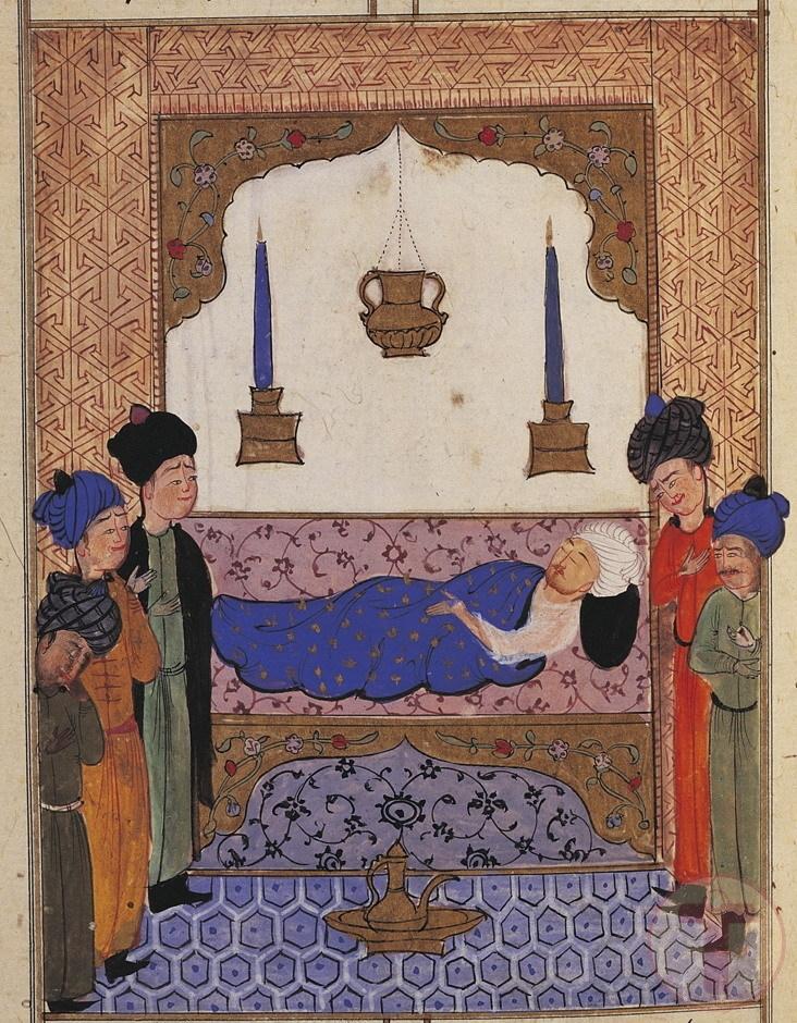 Minyatür Sultan I. Selim Ölüm Döşeğinde