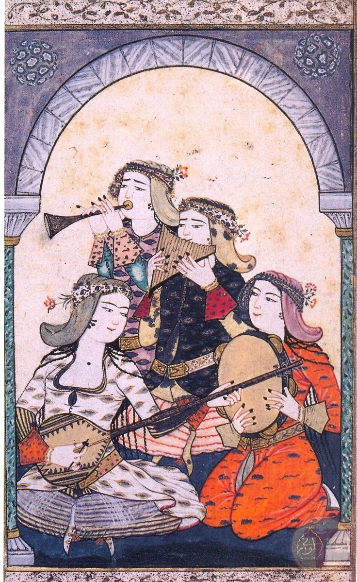 Levni Tarafından Kadın Müzisyenlerin Minyatürü