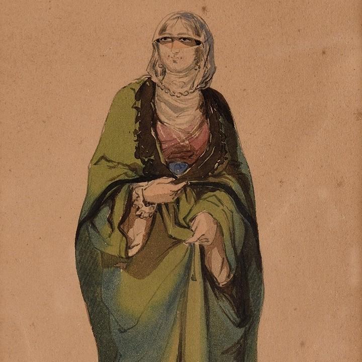 A Woman of Istanbul, c1850 Bir İstanbul Kadını, 1850c                    ...