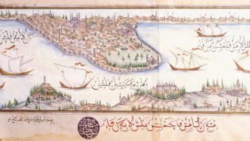An Ottoman miniature of Istanbul, 1600's.  Osmanlı dönemi Istanbul Minyatürü, 16...