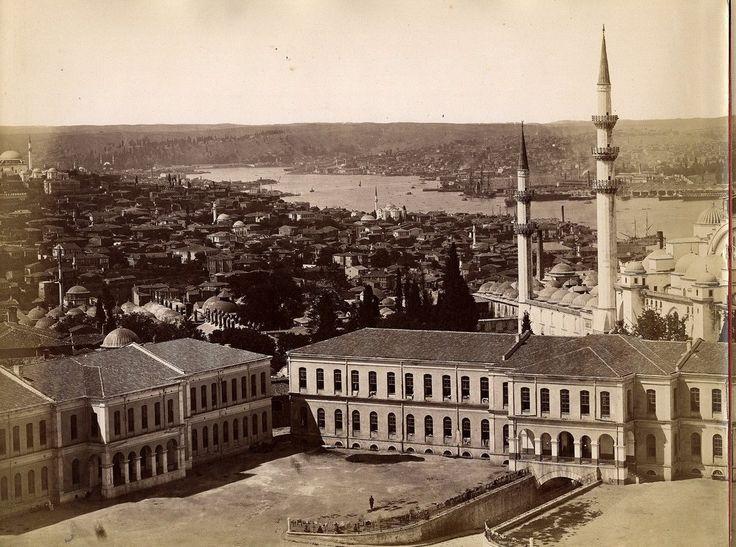 Beyazıt Kulesi'nden Panoramik Görünüm - 1  Guillaume Berggren, 1875