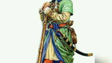 Bir Osmanlı Yeniçeri askeri. An Ottoman Janissary soldier. جندي عثماني إنكشاري  ...