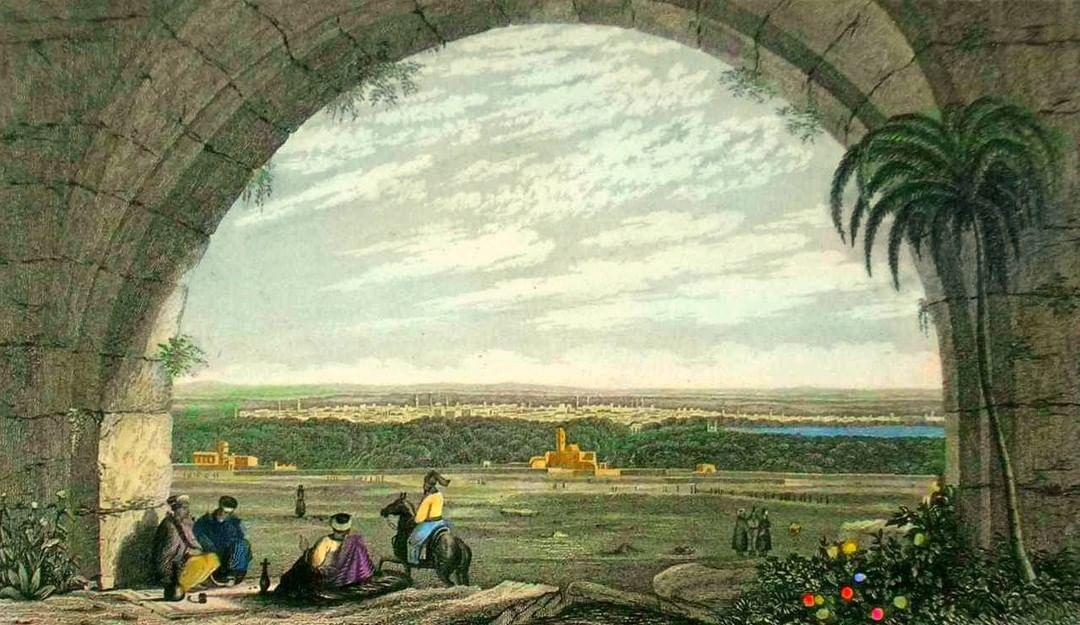 Damascus, Syria, 1836  Şam, Suriye, 1836                    ...