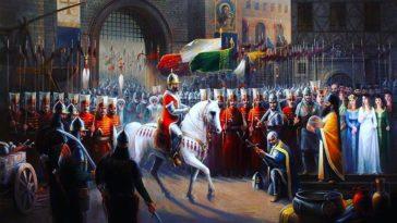 Trabzon İmparatoru'nun şehri teslim edişi