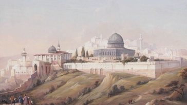 Jerusalem, Ottoman Palestine, 1800's. (Kudüs, Filistin).                        ...