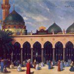 Osmanlı döneminden Medine-i Münevvere kartpostalı, 1890'lar. Medina Munawwara po...