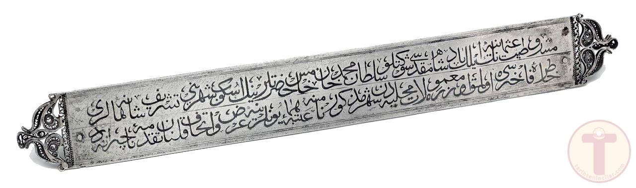 Osmanlı Dönemi Gümüş Üzerine Savat İşçilikli Levha