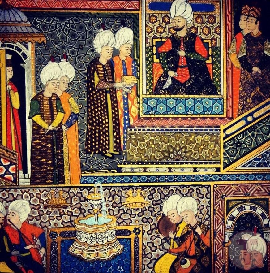 Bir Osmanlı Minyatürü Resmi