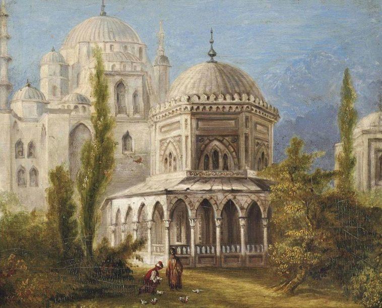 Tomb of Sultan Süleyman and his wife Hürrem Sultan (Roxelana), Ottoman Istanbul,...